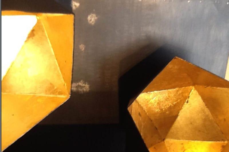 Goldkubus Teelicht