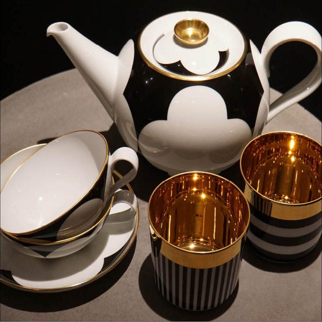 Sieger Tee und Champagner