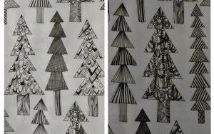 Weihnachtlicher Stoff von Marimekko