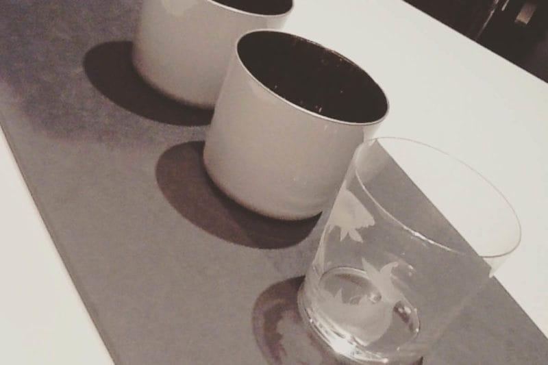 Sieger Champagner Becher und Glas