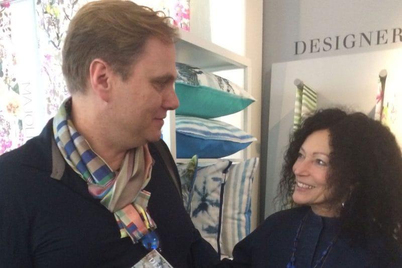 Friederich Weber trifft Tricia Guild von Designers Guild