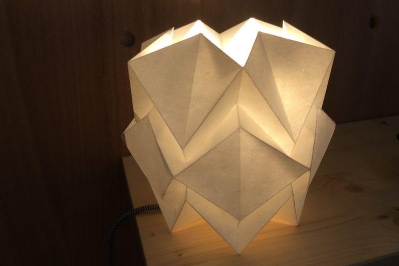 Papierleuchte Origami