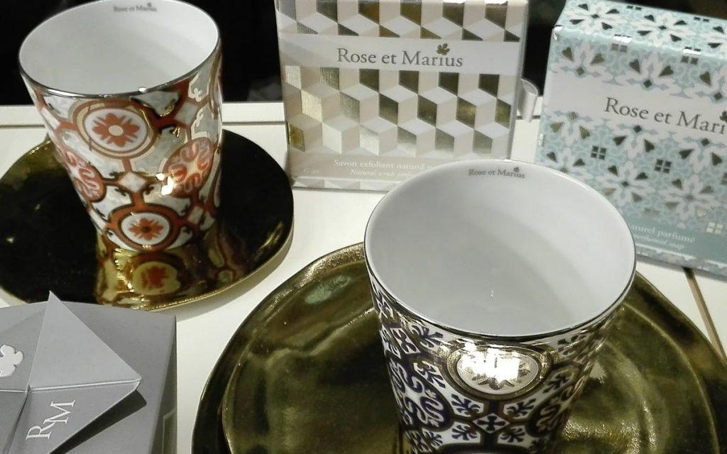 Limoges Porzellanbecher für Diffuserduft und Kerze