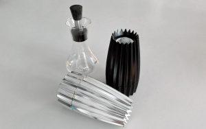 Pfeffer- und Salzstreuer I Essigflasche Alessi