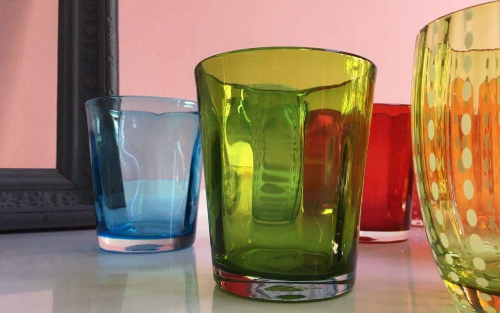 Mundgeblasene Zafferano-Gläser
