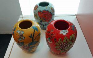 Bunte Keramikvase