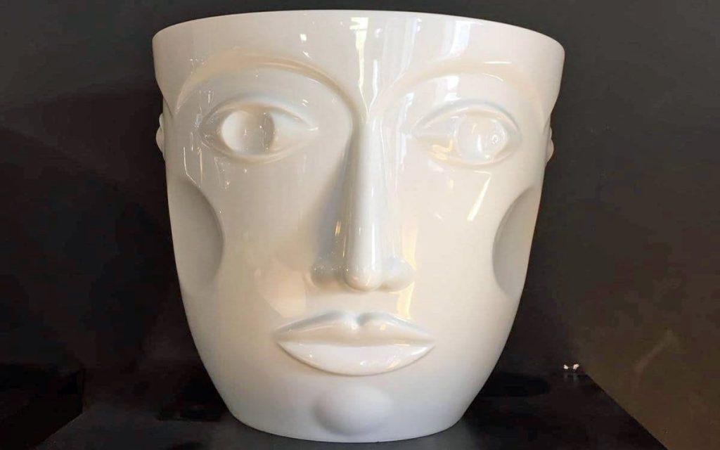 """Vase """"faces"""" von Sieger by Fürstenberg"""