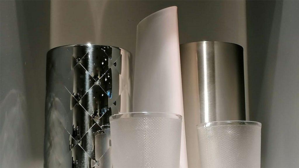 Weinkühler Alessi und Nude Vase