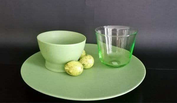 Zartes Grün – Gläser und Porzellan von ANN DEMEULEMEESTER